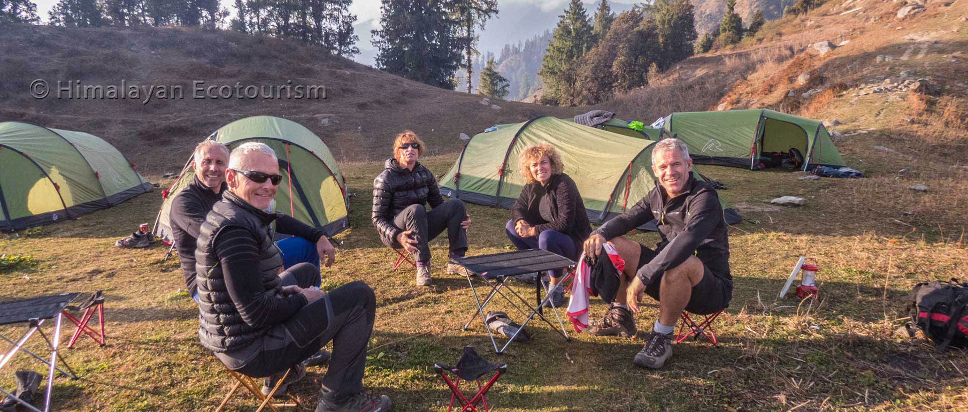 camping de trek au Great Himalayan National Park
